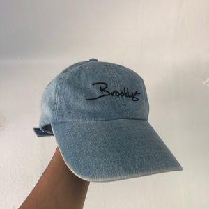 Vintage 'Brooklyn' Denim Baseball Hat